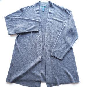 KAREN SCOTT Gray Open Front Cardigan 1X